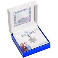 Disney Cubic Zirconia Frozen Snowflake Pendant Necklace in Sterling Silver, 16