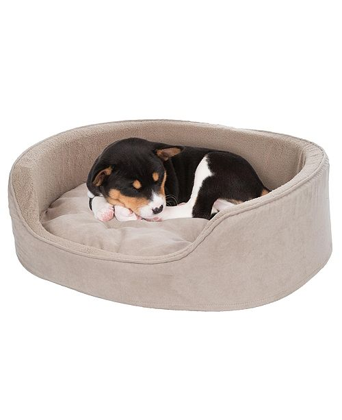 PetMaker Small Cuddle Round Microsuede Pet Bed
