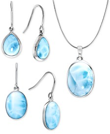 Marahlago Larimar Everyday Essentials Jewelry Collection in Sterling Silver
