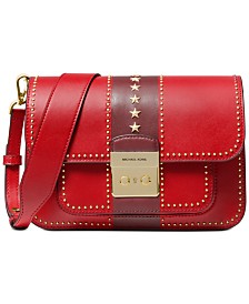 MICHAEL Michael Kors Sloan Editor Star Studded Leather Shoulder Bag