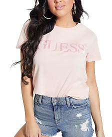 GUESS Logo-Print Organic Cotton T-Shirt