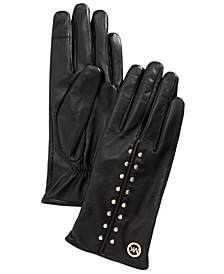 Leather Aster Stud Gloves
