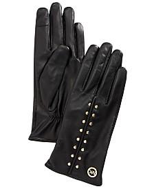 Michael Michael Kors Leather Aster Stud Gloves