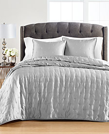 Martha Stewart Collection Tufted Satin Full/Queen Quilt, Created for Macy's