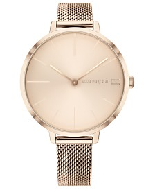 Tommy Hilfiger Women's Carnation Gold-Tone Mesh Bracelet Watch 38mm, Created for Macys