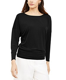 Boat-Neck Dolman-Sleeve Top, Created for Macy's