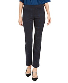 Petite Jacquard Tummy-Control Pants, Created for Macy's