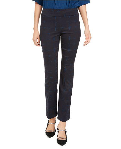 Alfani Printed Skinny Pull-On Pants