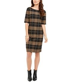 Alfani Plaid Sheath Dress, Created for Macy's