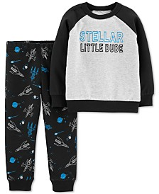 Carter's Baby Boys 2-Pc. Cotton Stellar Sweatshirt & Jogger Pants Set