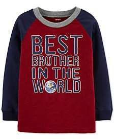 Baby Boys Cotton Colorblocked Printed Raglan T-Shirt