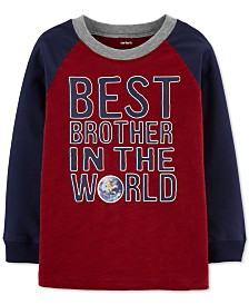 Carter's Baby Boys Cotton Colorblocked Printed Raglan T-Shirt
