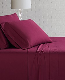 Solid Cotton Percale King Sheet Set