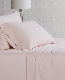 Brooklyn Loom Solid Cotton Percale King Sheet Set