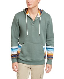 Men's Stripe Blocked Hoodie, Created For Macy's