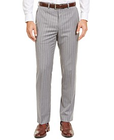 Men's Classic-Fit UltraFlex Stretch Stripe Suit Separate Pants