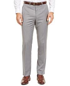 Men's Classic-Fit UltraFlex Stretch Stripe Suit Separate Pants
