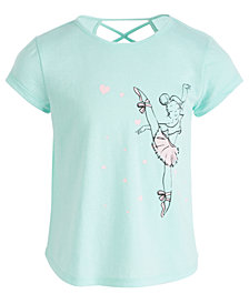 Ideology Little Girls Graphic-Print Cross-Back T-Shirt, Created for Macy's