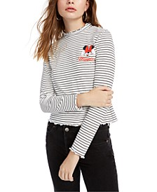 Juniors' Minnie Mouse Graphic-Print Top