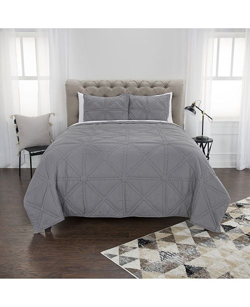 Rizzy Home Riztex USA Simpson Twin XL 2 Piece Quilt Set
