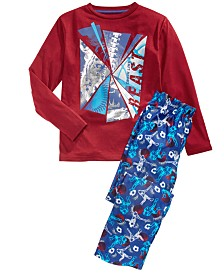 Max & Olivia Big Boys 2-Pc. Train Like A Beast Pajama Set