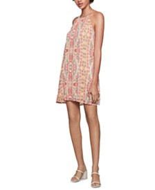 BCBGeneration Printed Pleated Mini Dress