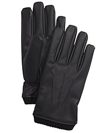 Men's Faux-Leather Gloves