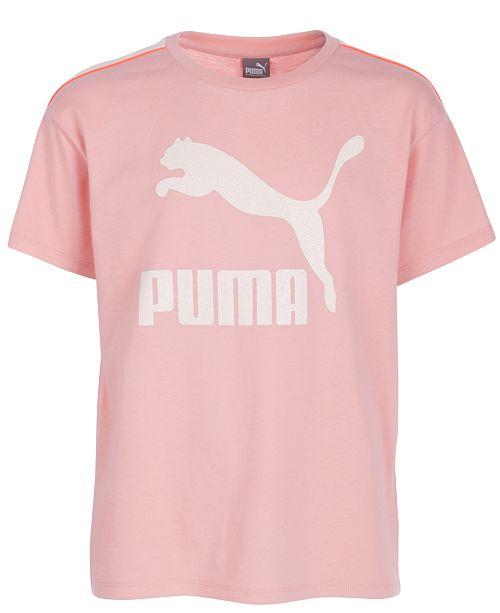 Puma North America Puma Big Girls Logo-Print T-Shirt