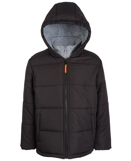 S Rothschild & CO Big Boys Hooded Puffer Jacket With Sweatshirt Bib