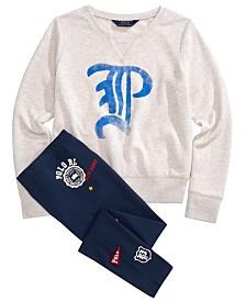 Polo Ralph Lauren Big Girls Graphic Sweatshirt & Leggings