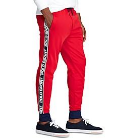 Men's Logo-Tape Fleece Track Pants