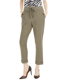 I.N.C. Tapered Drawstring Cargo Pants, Created for Macy's