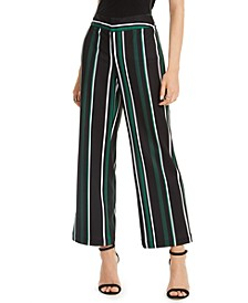 INC Petite Striped Wide-Leg Pants, Created for Macy's