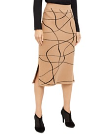 Alfani Printed Sweater Skirt, Created For Macy's