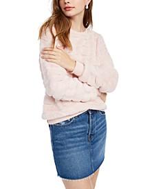 Juniors' Faux-Fur Sweatshirt