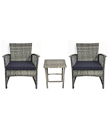 3-Piece Woven Rattan Wicker Seating Set