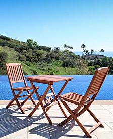 Malibu 3-Piece Wood Outdoor Patio Bistro Set