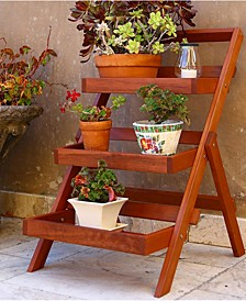 Malibu Outdoor 3-Layer Wood Garden Plant Stand