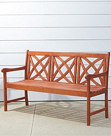 Malibu Outdoor Patio Wood Garden Bench