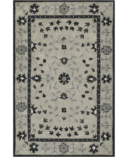 "D Style CLOSEOUT! Torrey Tor5 Silver 3'6"" x 5'6"" Area Rugs"