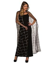 BuySeasons Women's Hooded Webbed Cape Adult Costume