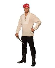 BuySeasons Men's Lace Up Pirate Shirt Adult Costume