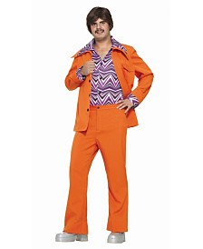BuySeasons Men's Leisure Suit Orange Adult Costume