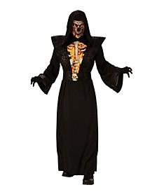 Men's Fiery Skeleton Adult Costume