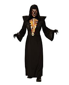 BuySeasons Men's Fiery Skeleton Adult Costume