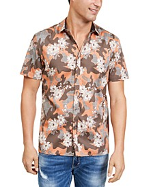 INC Men's Camo Floral Shirt, Created For Macy's