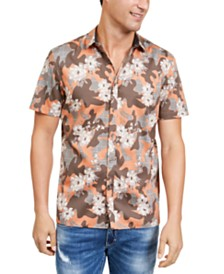 I.N.C. Men's Camo Floral Shirt, Created For Macy's
