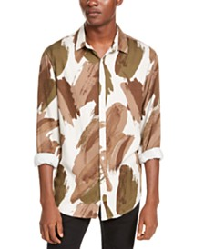 I.N.C. Men's Paint Stroke Shirt, Created For Macy's