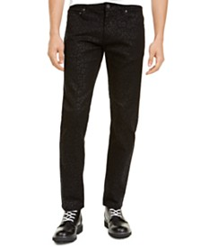 I.N.C. Men's Slim-Fit Animal Print Jeans, Created For Macy's