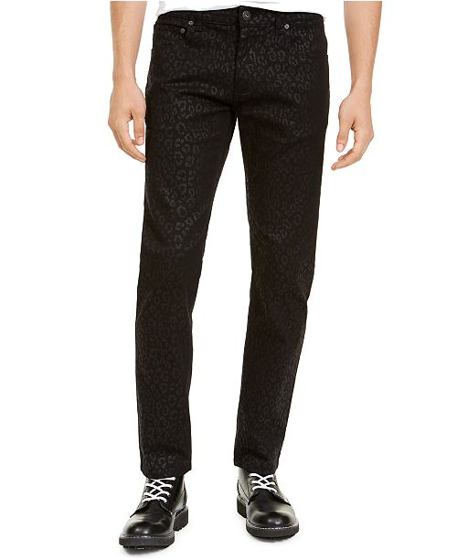 INC International Concepts INC Men's Slim-Fit Animal Print Jeans, Created For Macy's